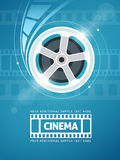 Cinema movie film. Cinema movie movie on disc and flaress. Eps10  illustration Royalty Free Stock Photo