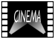 Cinema movie frame with shaft of light Royalty Free Stock Photography