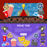 Cinema and Movie horizontal banners Royalty Free Stock Image