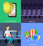Cinema movie poster template Royalty Free Stock Image