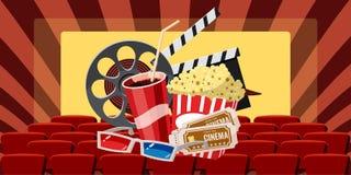 Cinema movie premiere icons set, cartoon style Stock Photography