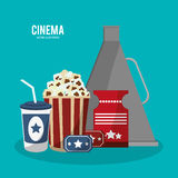 Cinema movie style icons. Vector illustration eps 10 Stock Photography