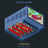 Cinema movie theater hall with people Stock Photography