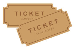 Cinema movie theater tickets Stock Photos