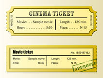 Cinema movie ticket Royalty Free Stock Photo