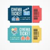 Cinema Movie Tickets Set with Elements. Vector