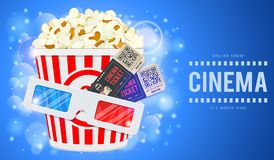 Cinema and Movie Banner Royalty Free Stock Photo
