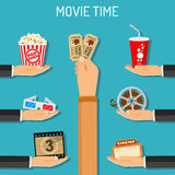 Cinema and Movie time Stock Photography