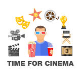 Cinema and Movie time Stock Photo