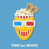 Cinema and Movie time Stock Image