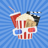 Cinema and Movie time concept Stock Images