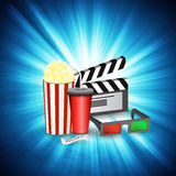 Cinema movie time Royalty Free Stock Photo