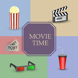 Cinema movie time Royalty Free Stock Images