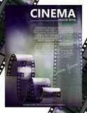 Cinema movie vector poster design. Template Stock Photography