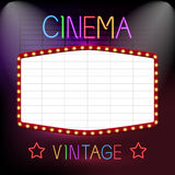 Cinema Neon Sign Stock Images