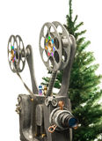 Cinema and new years tree Royalty Free Stock Images