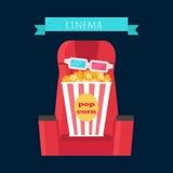 Cinema Objects Set Isolated. Movie Entertainment Stock Photos