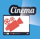 cinema online movie film projector Royalty Free Stock Images