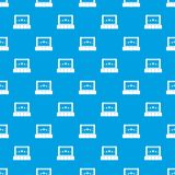 Cinema pattern seamless blue. Cinema pattern repeat seamless in blue color for any design. Vector geometric illustration Royalty Free Stock Images