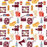 Cinema pattern Royalty Free Stock Images