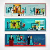 Cinema People Banner Set Stock Photos