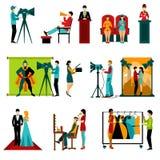 Cinema People Set Royalty Free Stock Image