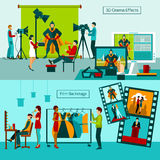 Cinema People Set Royalty Free Stock Photography