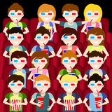 Cinema. People watch the movie Royalty Free Stock Photo