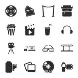 Cinema, photo 16 icons universal set for web and mobile. Flat Royalty Free Stock Image