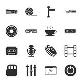 Cinema, photo 16 icons universal set for web and mobile. Flat Stock Images