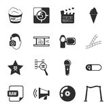 Cinema, photo 16 icons universal set for web and mobile. Flat Royalty Free Stock Photos
