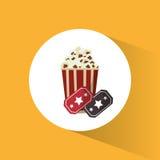 Cinema pop corn tickets movie Stock Images