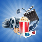Cinema popcorn Royalty Free Stock Images