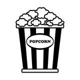 Cinema popcorn icon. Flat vector cartoon illustration. Objects isolated on a white background Stock Photo