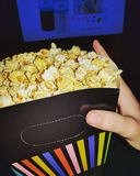 Cinema with Popcorn royalty free stock photography