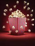 Cinema popcorn scatter - Stock Image Royalty Free Stock Image