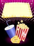Cinema popcorn and soda Royalty Free Stock Photo