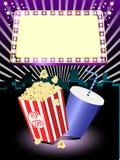 Cinema popcorn and soda Stock Images