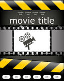 Cinema poster design. With grunge filmstrip and camera Royalty Free Stock Images