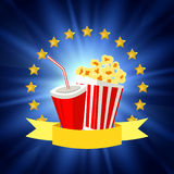 Cinema poster design Royalty Free Stock Photo