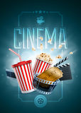 Cinema Poster Design Template Stock Photo
