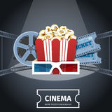 Cinema Poster Design Template Royalty Free Stock Photography