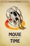 Cinema Poster Illustration Stock Images