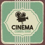 Cinema poster vintage projector film movie. Vector illustration Stock Image