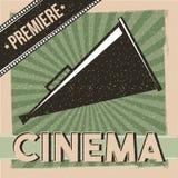 Cinema premiere poster vintage director speaker. Vector illustration Stock Photography