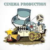 Cinema production decorative poster Stock Photography