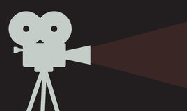 Cinema projector background Royalty Free Stock Photos