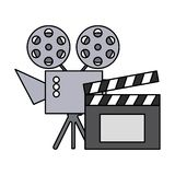 Cinema projector and clapperboard isolated icon. Vector illustration design vector illustration