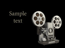 Cinema projector isolated on black Royalty Free Stock Photos