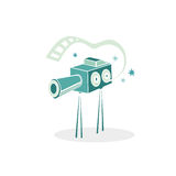 Cinema projector. Cinema retro projector. Vector illustration Stock Photos
